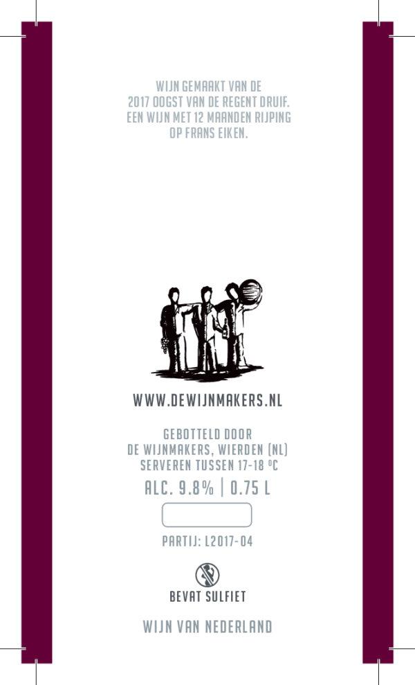 De Wijnmakers Chef achteretiket