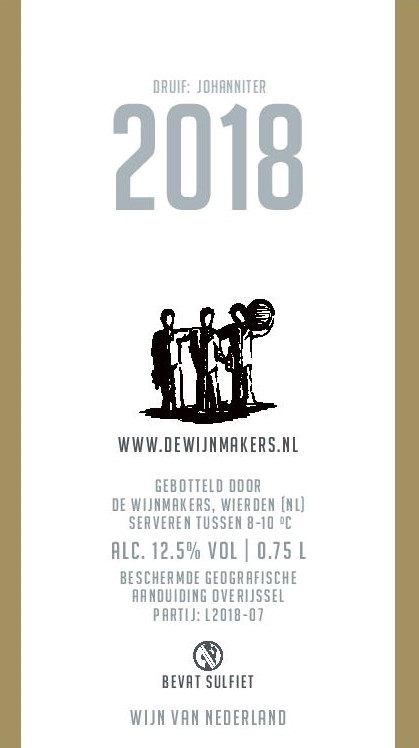 De Wijnmakers Witte Ros achter etiket