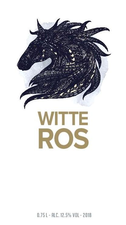 De Wijnmakers Witte Ros voor etiket